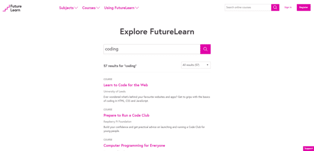 futurelearn learn coding lessons online