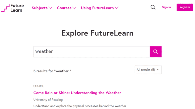 futurelearn learn weather lessons online