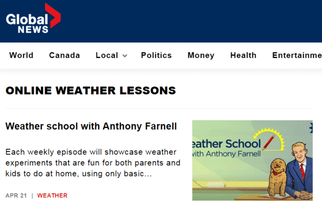 globalnews learn weather lessons online