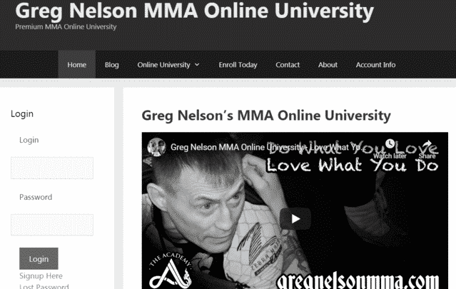 gregnelsonmma learn mma lessons online