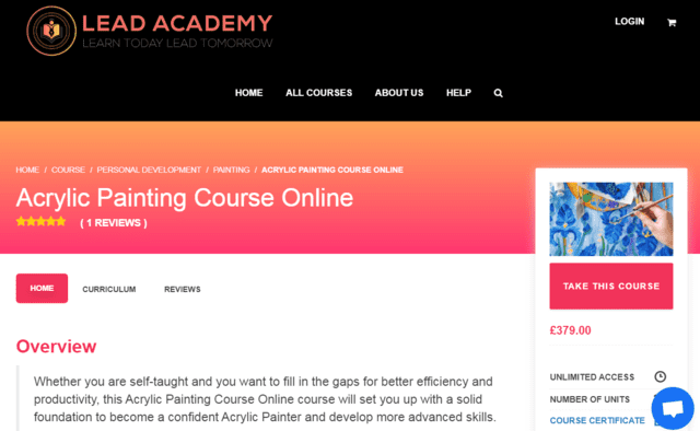 leadacademy learn acrylic painting lessons online