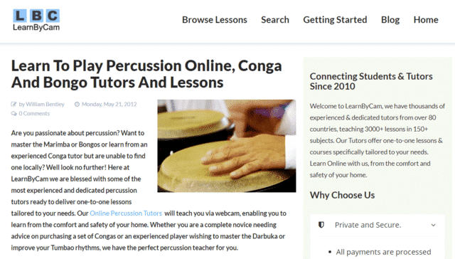 Learnbycam Learn Conga Lessons Online