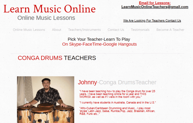 Learnmusiconline Learn Conga Lessons Online