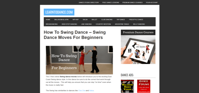 learntodance learn swing dance lessons online