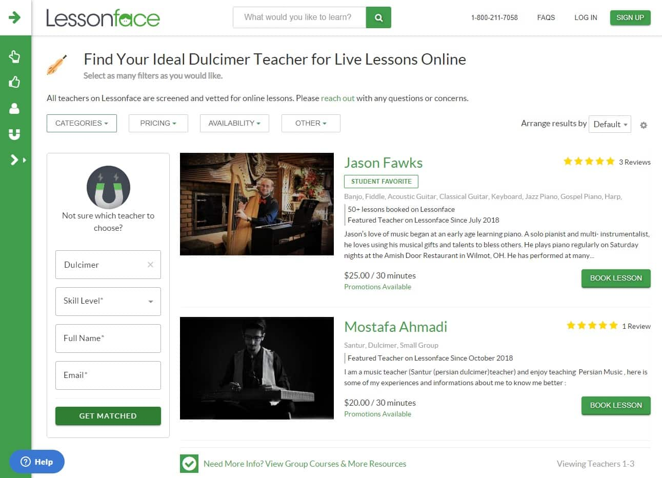 lessonface learn dulcimer lessons online