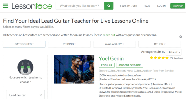 Lessonface Learn Lead Guitar Lessons Online