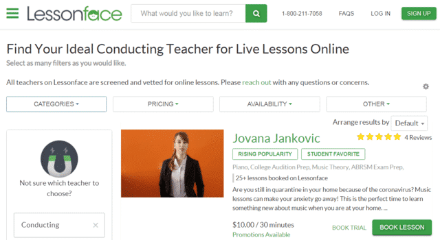 Lessonface Learn Music Conducting Lessons Online
