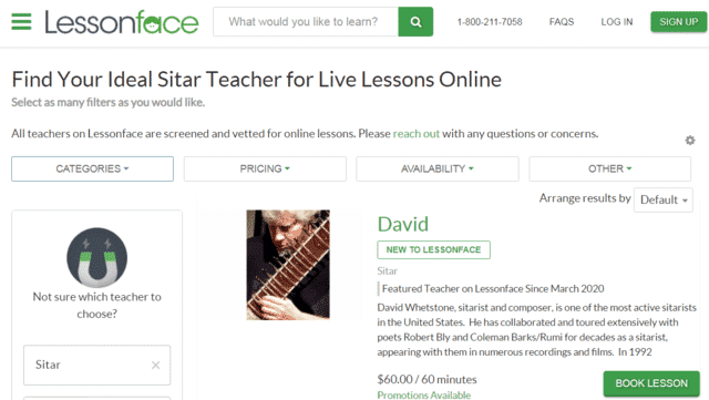 Lessonface Learn Sitar Lessons Online