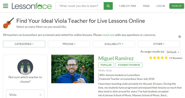 Lessonface Learn Viola Lessons Online