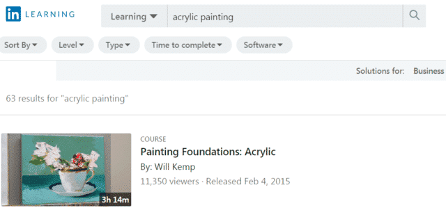 linkedin learn acrylic painting lessons online