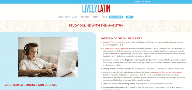 livelylatin learn latin lessons online