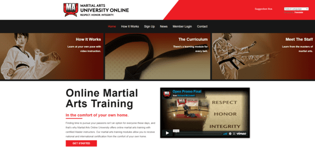 martialartsonlineuniversity learn martial arts lessons online