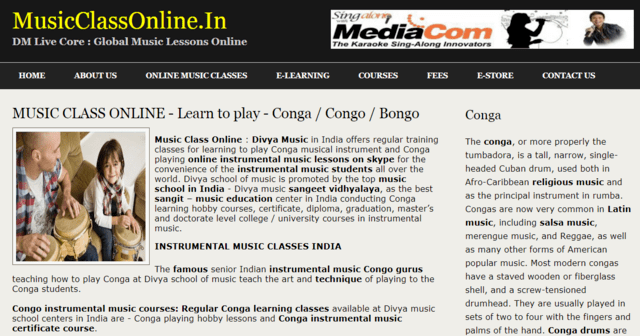 Musicclassonline Learn Conga Lessons Online