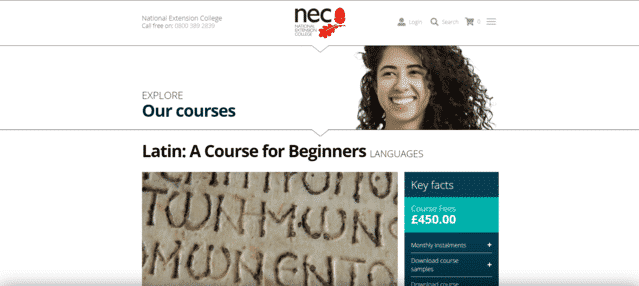 nec learn latin lessons online