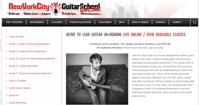 NYCguitarschool Learn Lead Guitar Lessons Online