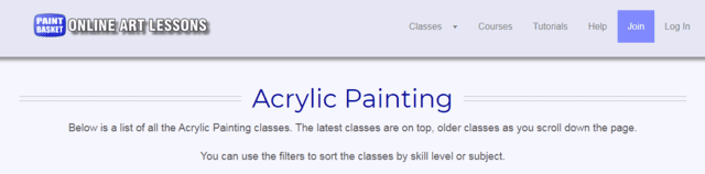 onlineartlessons learn acrylic painting lessons online