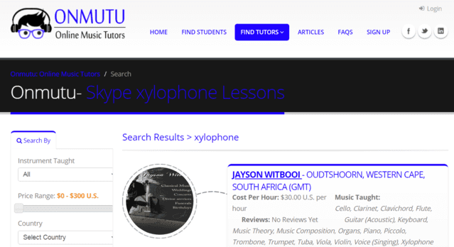 onmutu learn xylophone lessons online