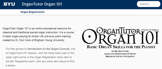 Organtutor Learn Organ Lessons Online