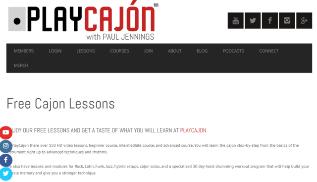 Playcajon Learn Cajon Lessons Online