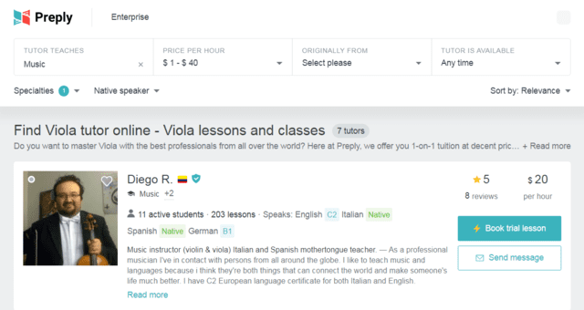 Preply Learn Viola Lessons Online