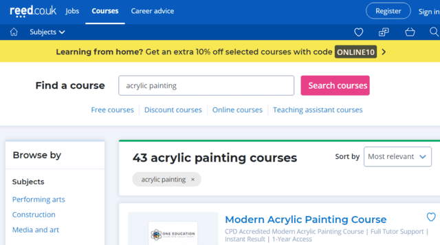 reed learn acrylic painting lessons online