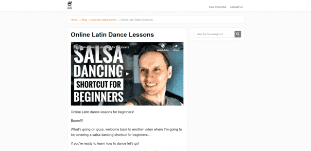salsaninja learn latin dance lessons online