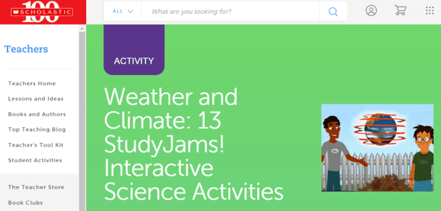 scholastic learn weather lessons online