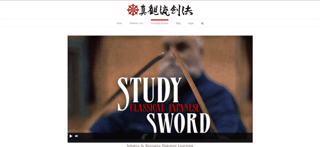 shinkanryu learn sword fighting lessons online