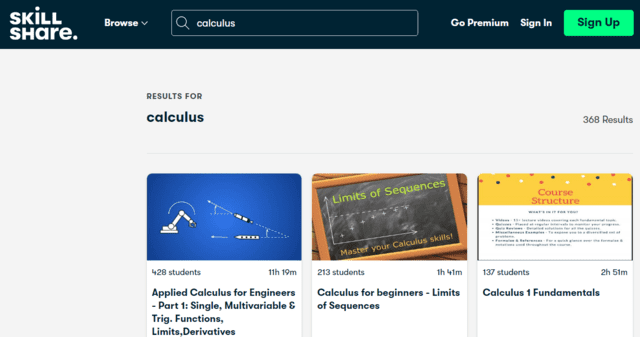 skillshare learn calculus lessons online