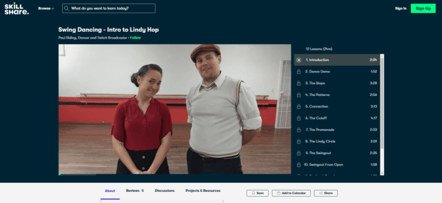 skillshare learn swing dance lessons online