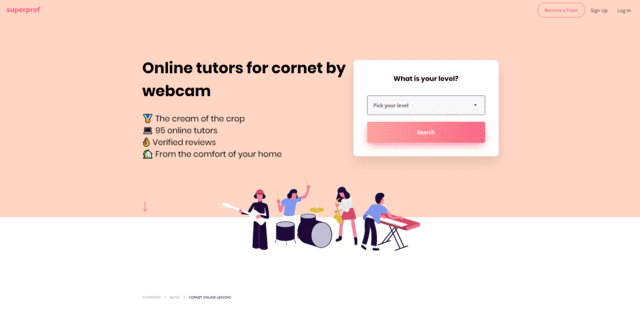 superprof learn cornet lessons online