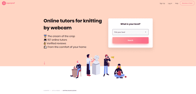 superprof learn knitting lessons online