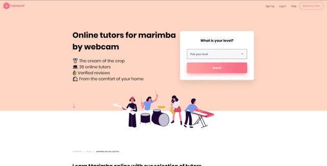 superprof learn marimba lessons online