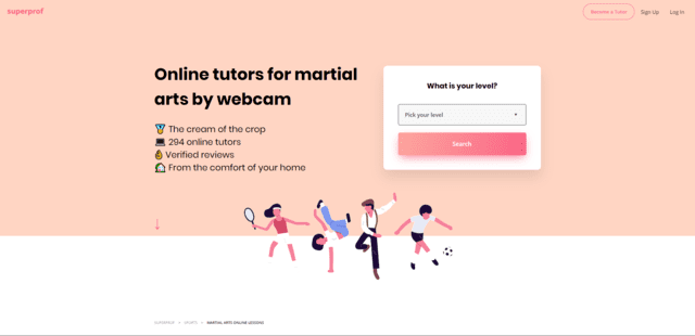 superprof learn martial arts lessons online
