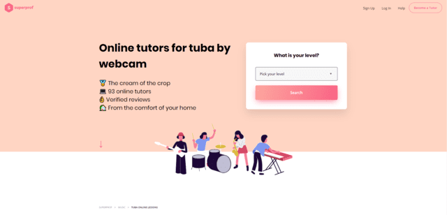 superprof learn tuba lessons online