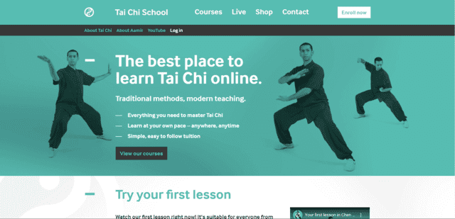 taichischool learn tai chi lessons online