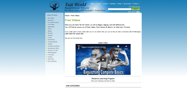 taijiworld learn tai chi lessons online