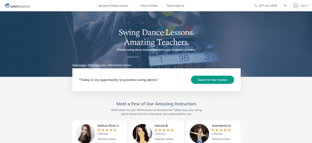 takelessons learn swing dance lessons online