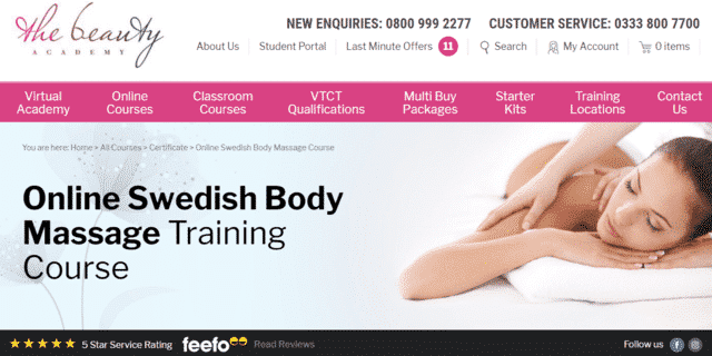 thebeautyacademy learn massage lessons online