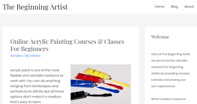 thebeginningartist learn acrylic painting lessons online
