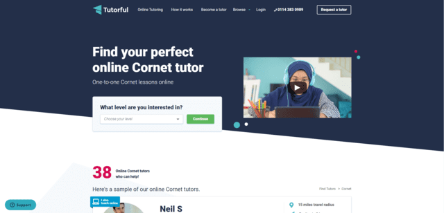 tutorful learn cornet lessons online