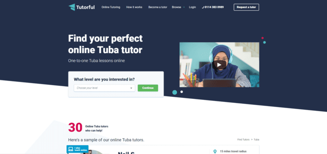tutorful learn tuba lessons online
