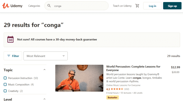 Udemy Learn Conga Lessons Online