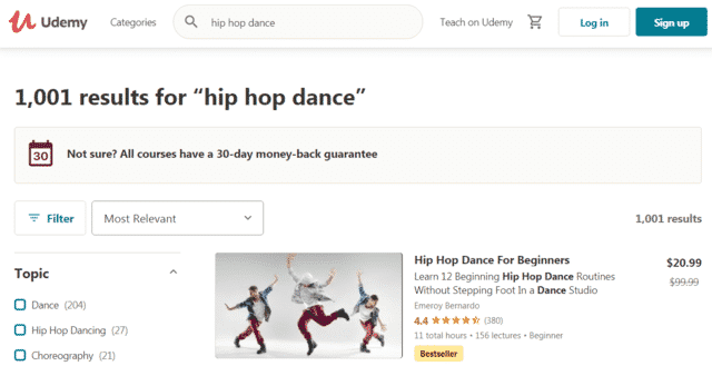 udemy learn hip hop dance lessons online