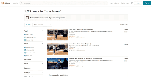 udemy learn latin dance lessons online