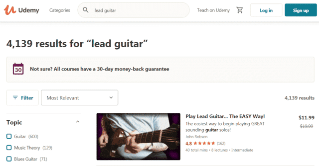 Udemy Learn Lead Guitar Lessons Online