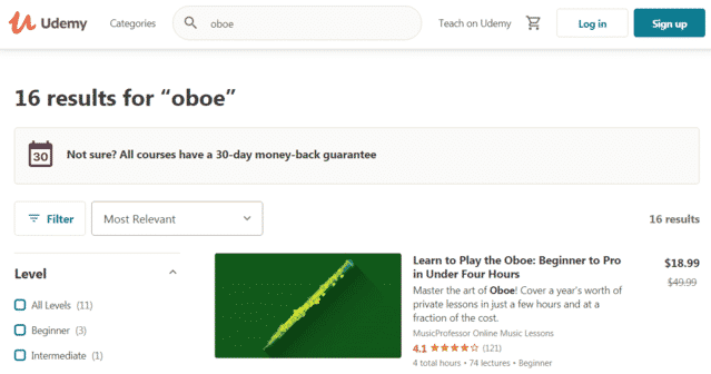 Udemy Learn Oboe Lessons Online