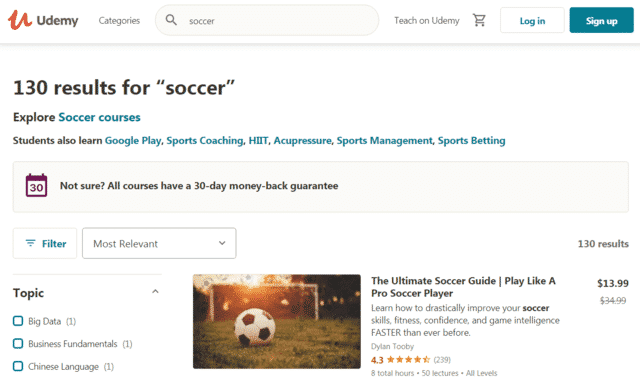 Udemy Learn Soccer Lessons Online