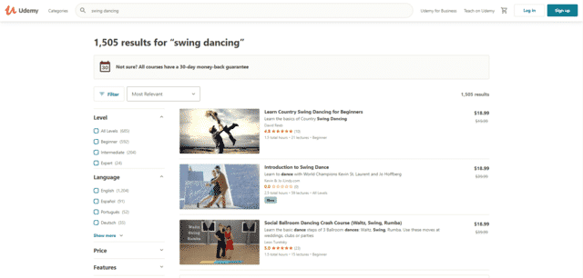 udemy learn swing dance lessons online