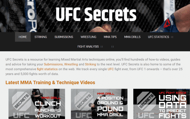 ufcsecrets learn mma lessons online